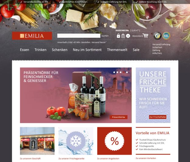 EMILIA.de Startseite