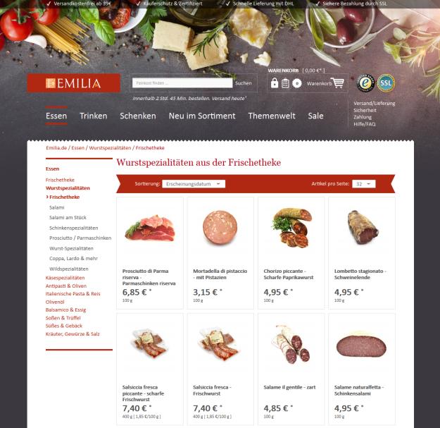 EMILIA.de Listing